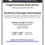 Northeast Passenger Rail Summit Invitation - October 19